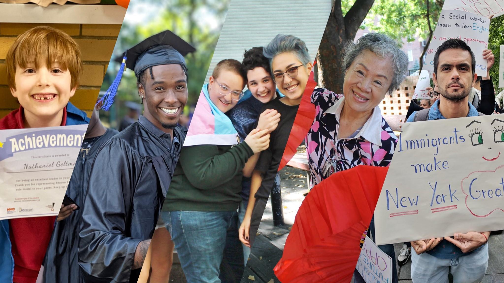 Community members smiling